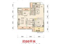 宛陵新语;97平,黄金楼层15楼,3室2厅2卫,毛坯,有税,边套南北通透,3房